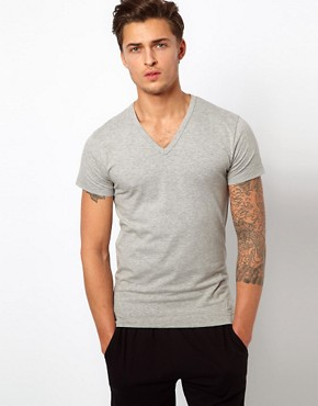 Image 1 ofJack &amp; Jones Intelligence Basic V Neck T-Shirt