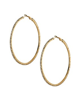 Image 1 ofLove Rocks Crystal Hoop Earrings