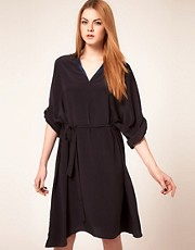 Unconditional Long Oversized Stand Up Collar Dress