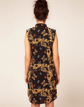 Image 2 ofRiver Island Butterfly Shirt Dress