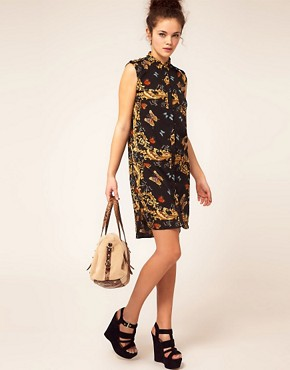 Image 4 ofRiver Island Butterfly Shirt Dress