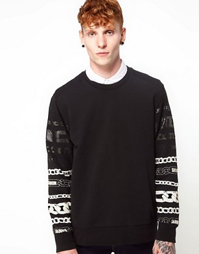 Image 1 ofChristopher Shannon Kidda Sweat with Chain Print Sleeve