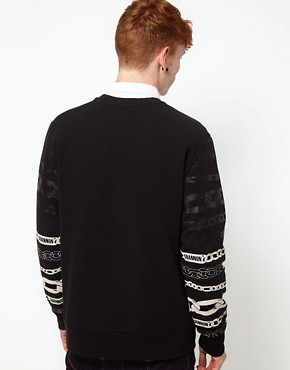 Image 2 ofChristopher Shannon Kidda Sweat with Chain Print Sleeve