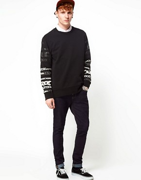 Image 4 ofChristopher Shannon Kidda Sweat with Chain Print Sleeve