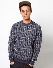 Bellfield Sweatshirt With Allover Print