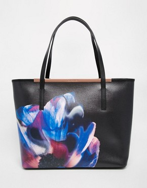 Ted Baker Leather Cosmic Bloom Crosshatch Shopper