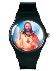 ASOS &ndash; Armbanduhr mit Jesus-Aufdruck