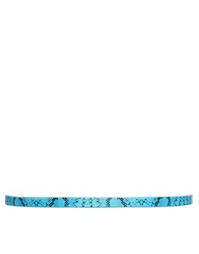 Image 3 ofASOS Metal Keeper Super Skinny Waist Belt In Snake Print