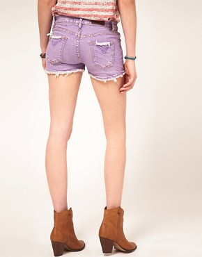 Image 2 ofM2f Pastel Denim Shorts