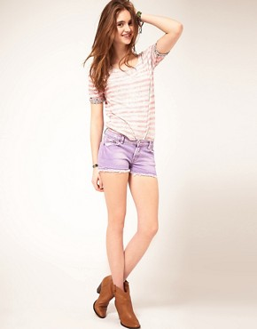 Image 1 ofM2f Pastel Denim Shorts