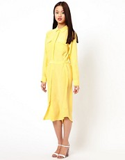 Equipment Long Sleeve Silk Teegan Dress