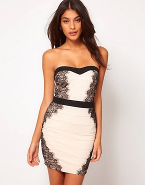 Image 1 ofLipsy Contrast Bandage Dress