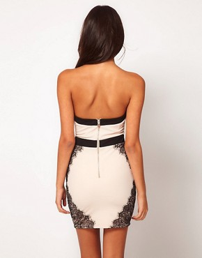 Image 2 ofLipsy Contrast Bandage Dress