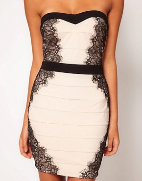 Image 3 ofLipsy Contrast Bandage Dress
