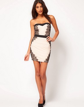 Image 4 ofLipsy Contrast Bandage Dress