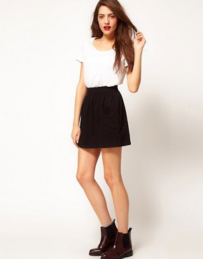 Image 1 ofAmerican Apparel Jersey Pocket Skirt