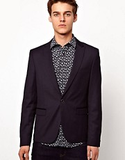 Selected Blazer with One Button
