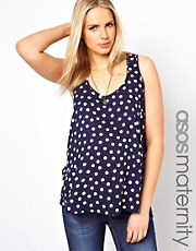 ASOS Maternity Woven Tank in Spot