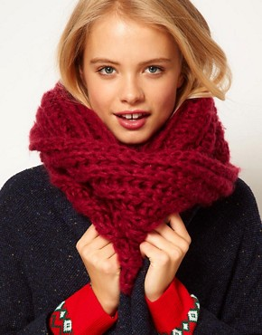Image 1 of ASOS Extra Long Funnel Rib Knit Snood