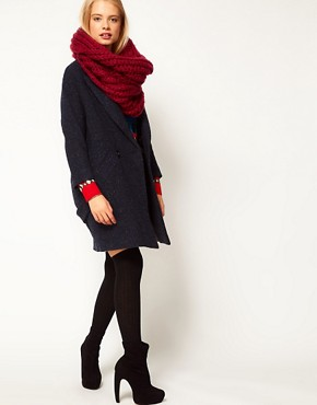 Image 3 ofASOS Extra Long Funnel Rib Knit Snood