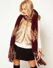 ASOS Mix Ribbon Knit Scarf