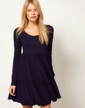 Image 1 ofASOS Swing Dress With Tier Detail