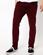ASOS Skinny Jeans In Coloured Acid Wash