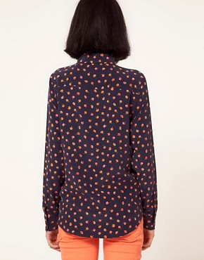 Image 2 ofEquipment Brett Silk Shirt in Cherry Print