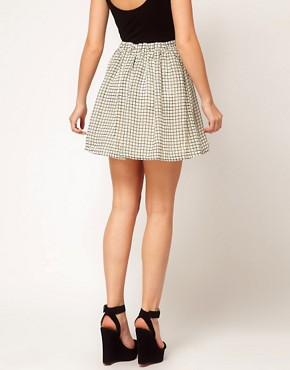 Image 2 ofGlamorous Checked Skater Skirt