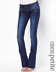 ASOS PETITE Super Sexy Flare Jean in Vintage Wash