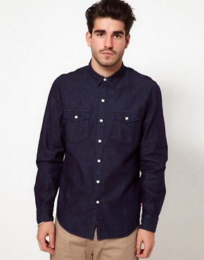 Image 1 ofLevis Shirt Rinsed Denim