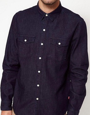 Image 3 of Levis Shirt Rinsed Denim