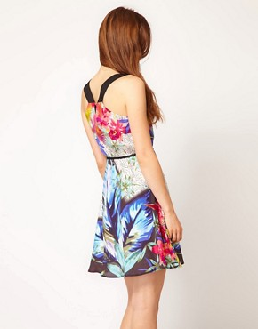 Image 2 ofWarehouse Tropical Dots Dress