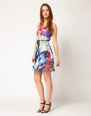 Image 4 ofWarehouse Tropical Dots Dress