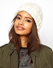 ASOS Cable Beanie With Turn Up