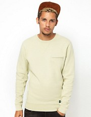 55DSL Sweatshirt Crew Neck Zip Pocket