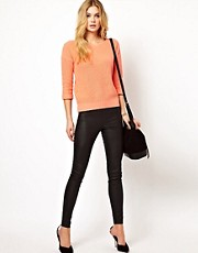 Vila Leather Look Skinny Pant