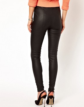 Image 2 ofVila Leather Look Skinny Trouser