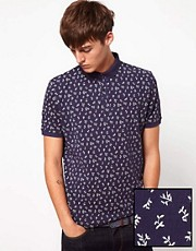 ASOS Polo With All Over Ditsy Print