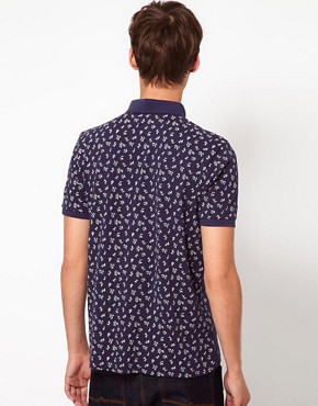 Image 2 ofASOS Polo With All Over Ditsy Print