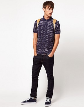 Image 4 ofASOS Polo With All Over Ditsy Print