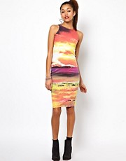 Motel New World Midi Dress