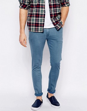 ASOS Super Skinny Jeans In Flat Blue Wash