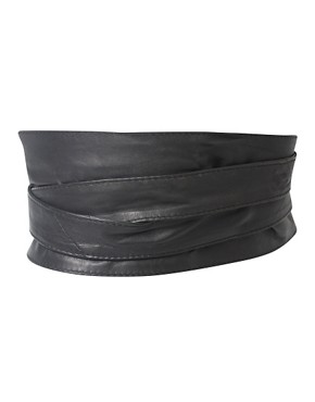 Image 3 ofASOS CURVE Leather Obi Waist Belt