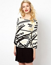 Sonia by Sonia Rykiel Graphic Print Jersey Top