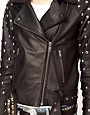 Image 3 ofASOS Limited Edition Leather Studded Sleeve Biker