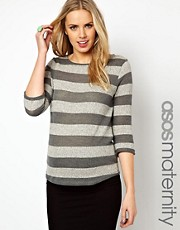 ASOS Maternity Jumper In Stripe