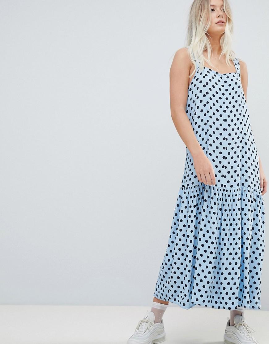 Imagen principal de producto de Vestido de tirantes con cintura caída de Weekday - Weekday