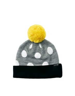 Image 2 ofLazy Oaf Polka Bobble Beanie Hat