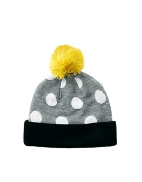 Image 4 ofLazy Oaf Polka Bobble Beanie Hat